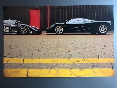 1997 McLaren M1 Coupe & McLaren F1 GTR Print, Picture, Poster, RARE!! Awesome