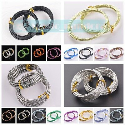 Wholesale 2.0mm 2meters/roll Metal Aluminum Wrap Cords Threads Wires 3 Style