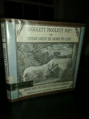 VTG Higglety Pigglety Pop 1ST Maurice Sendak SEALYHAM TERRIER CHILDREN DOG BOOK