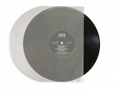 """100-pk 12"""" 33rpm Rounded Clear/Opaque LP Vinyl Record inner Sleeves Round Bottom"""