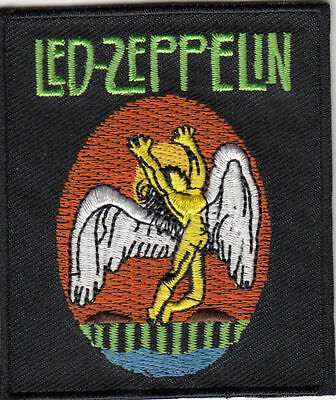LED ZEPPELIN SWAN SONG EMBROIDERED IRON ON PATCH 2.5 x 3 robert plant jimmy page