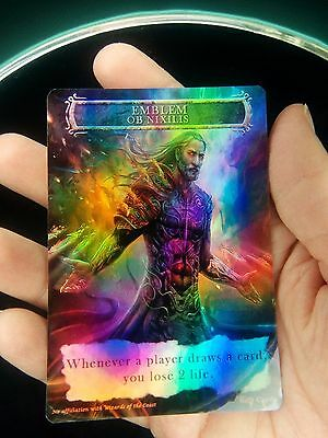 1x Ob Nixilis Reignited Emblem *FOIL LAMINATED* Custom Altered MTG