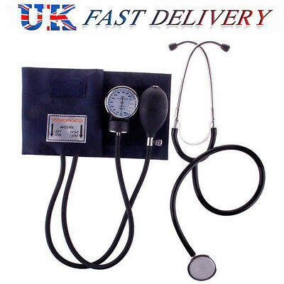 Stethoscope & Sphygmomanometer Cuff Blood Pressure Monitor Manual BP KITS