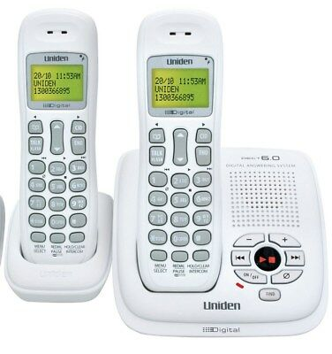 UNIDEN DECT 035+1  Digital cordless phone with answering machine 2 handset's