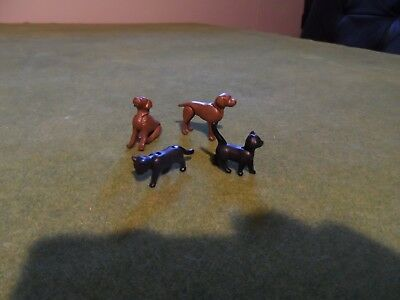 Playmobil Figures Parts Lot of 4 Pets 2x Dogs & 2x Cats