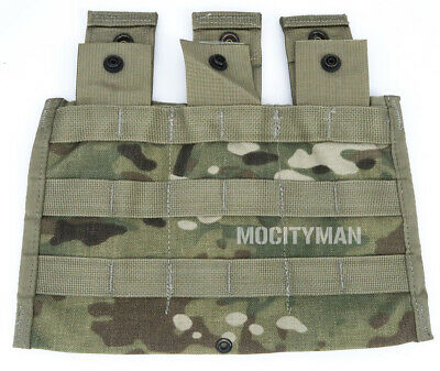 Military Multicam Side x Side Triple Rifle Mag Pouch MOLLE II - NEW - USA Made