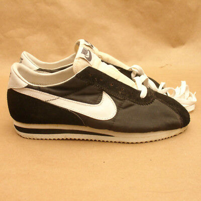 newest 549a5 a8341 Vintage NIKE Cortez Black Running Shoes,ORIGINAL,Mens Size 5.5,Deadstock,NOS