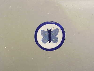 Whitefriars Glass complex millefiori BLUE BUTTERFLY 11m