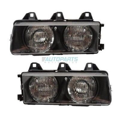 New Left And Right Headlamp Assembly Fits 1992-1999 Bmw 318I Bm2502101 Bm2503101