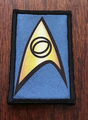Star Trek Science Morale Patch Tactical Military Army Flag Badge Hook USA