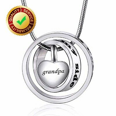 No longer by my side forever in my heart carved locket cremation Urn necklace fo