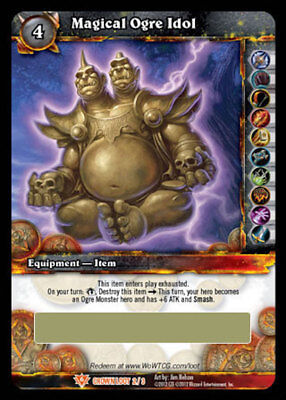 WOW TCG Loot Card Magical Ogre Idol World of Warcraft Toy Red Ogre Mage Costume
