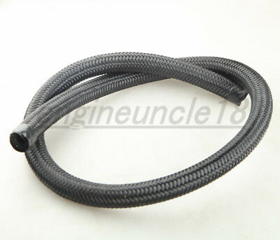 1500 PSI Black NYLON Cover Braided -10AN AN10 Oil Fuel Gas Line Hose Foot