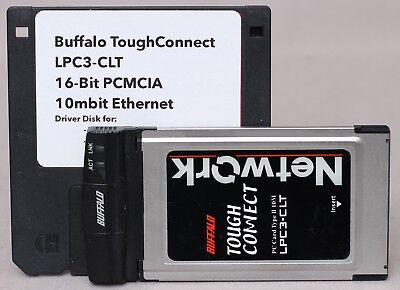 Buffalo 'ToughConnect' 10Mbit 16Bit PCMCIA PC Card Ethernet Adapter LPC3-CLT