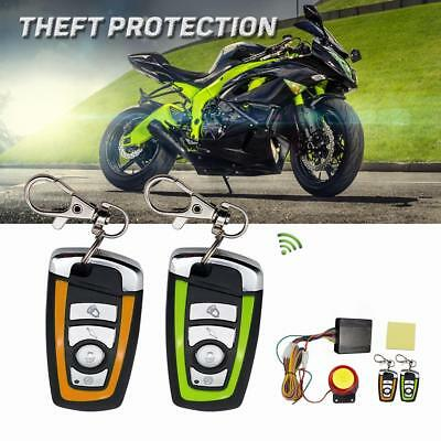 Motorcycle Bike Scooter 12V Car Security Alarm System Remote Control Anti theft