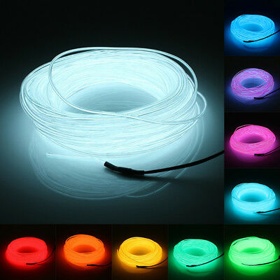5m EL Wire Battery Powered Flexible Strobing LED Neon Light Party Halloween