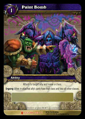 WOW TCG Loot Code Paint Bomb World of Warcraft Toy  Paint Bomb Green your enemy