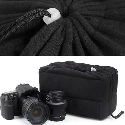 Shockproof DSLR SLR Camera Bag Partition Padded Velvet Insert Protector Case New