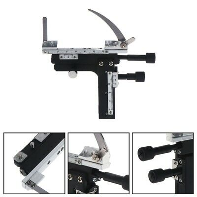 Microscope Attachable Mechanical Stage X-Y Caliper Moveable Vernier with Scale