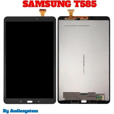 "DISPLAY LCD+TOUCH SCREEN per SAMSUNG GALAXY TAB A 10,1"" SM-T585 2016 NERO VETRO"