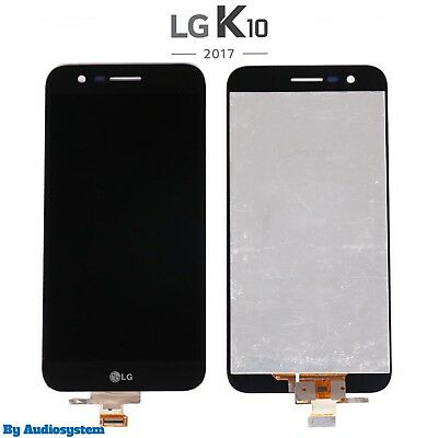 P1 DISPLAY +TOUCH SCREEN per LG K10 2017 M250 M250N LCD VETRO NERO OPTIMUS