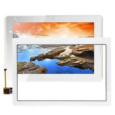 Vetro+Touch Screen Per Lenovo Tab 2 A10-70L A10-70F A7600 Per Display Bianco