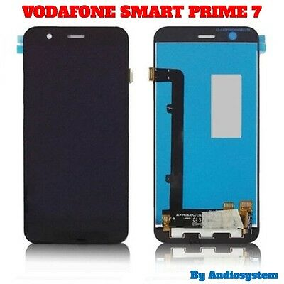 P1 DISPLAY LCD+TOUCH SCREEN per VODAFONE SMART PRIME 7 VDF600 VFD 600 VETRO NERO