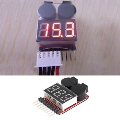 1-8S Lipo/Li-ion/Fe Boat Battery 2 In 1 Tester LED Low RC Voltage Buzzer Alarm