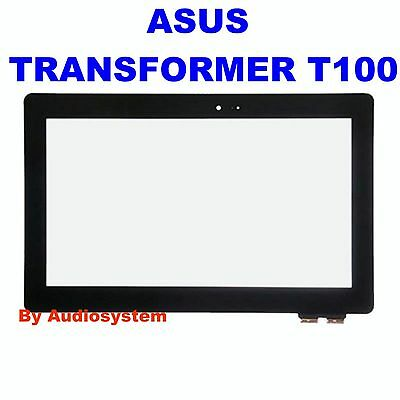 VETRO+TOUCH SCREEN per ASUS TRANSFORMER BOOK T100 T100T T100TA DISPLAY NERO