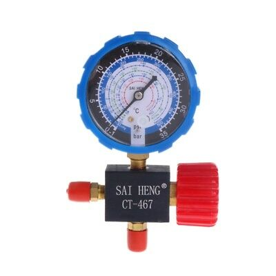 Air Conditioner 3-Way Gauge Single Manifold Valve R134A R404A R22 R410A 0-500PSI