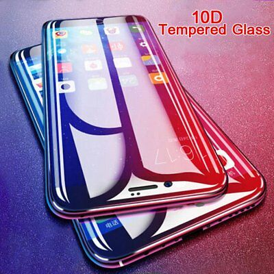 10D Clear Tempered Glass Film Full Cover Screen Protector For iPhone XS X 7 8 6