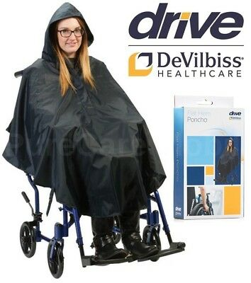Drive Wheelchair Poncho Waterproof Cover With Hood Disability Rain Mac / Coat