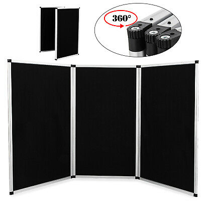 "70.8 X 35"" 3 Panel Tabletop Display Presentation Board Tri-Fold Fabric Stand"