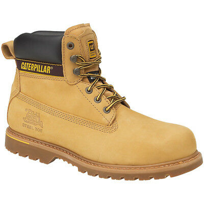 Caterpillar Mens Holton SB Safety Work Boots Honey
