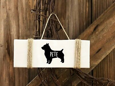 Australian Terrier Dog Small Wood Sign,  personalized   Dog Gift- Dog Lover