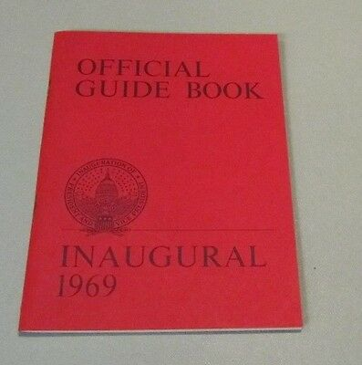 1969 President Richard Nixon Forward Together Official Inaugural Guide Book 32pg