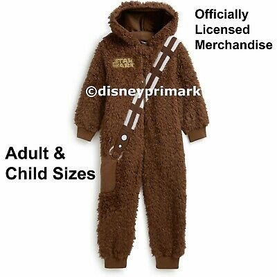 OFFICIAL Adult / Child CHEWBACCA ONESY Star Wars Pyjama Costume PJ Sleepsuit Men