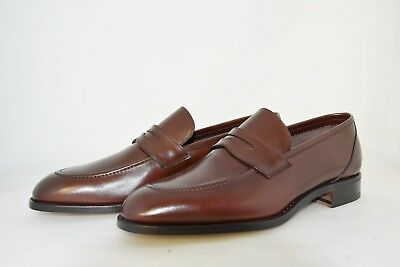 MAN-10eu-11us-PENNY LOAFER-MOCASSINO-BROWN CALF-VITELLO MARRONE-LEATHER SOLE