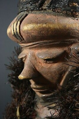 African MBUYA forehead mask - PENDE - D.R. Congo, TRIBAL ART, AFRICAN ART