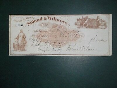 Banking House of Noland & Wilmore. May 3, 1872. Nicholasville, Ky.