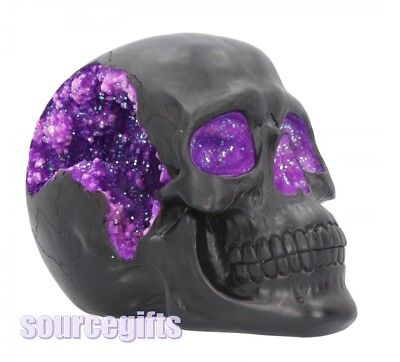 New Geode Skull Ornament Figurine Gothic Gift Nemesis Now B4341