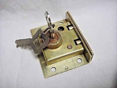 NOS Antique Sargent & Greenleaf Brass Half Mortise Chest Lock w/2 Keys #51
