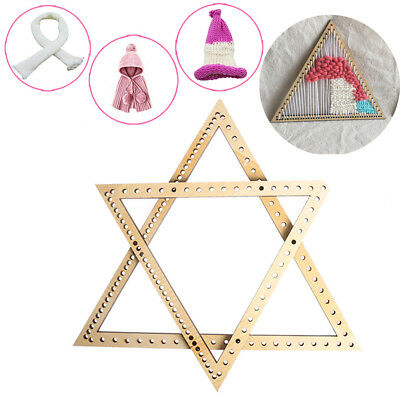 Fashion Handmade DIY Woven Tools Craft knitting wooden weaving loom triangle