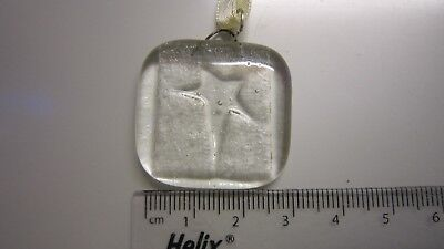 Clear Glass Fused Charm - Clear Star - Handmade Gift - Wedding Favours