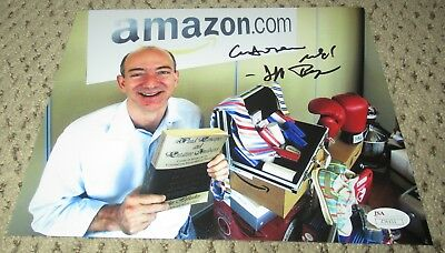 Jeff Bezos Signed 8X10 Photo Jsa Autograph Amazon Loa Billionaire Beezos Rare