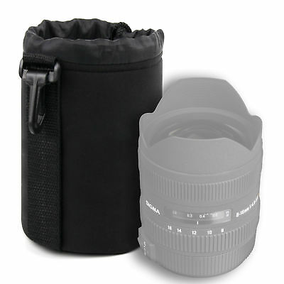 Medium Camera Lens Case Pouch for Sigma 8-16mm/10-20mm/35mm/17-50mm Lenses