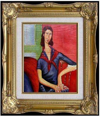 Framed Quality Oil Painting Amedeo Modigliani Portrait Jeanne 1919 Repro 8x10in