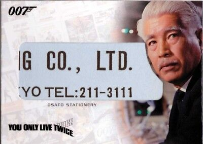 THE COMPLETE JAMES BOND - RELIC CARD RC16 Osato Stationery