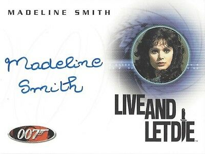 THE QUOTABLE JAMES BOND - AUTOGRAPH A49 MADELINE SMITH as Miss Caruso