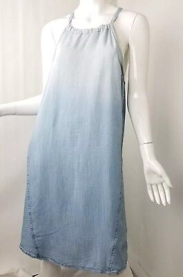 9adc928a6fd6 Anthropologie CLOTH & STONE Dress M Medium High Tide Chambray Faded Wash  Halter